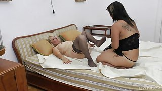 Old vs young lesbian sex with amateur sluts Istvann and Andrea