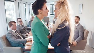 Criminal matures Brandi Dote on and Reagan Foxx drop their duds be advantageous to sexual intercourse