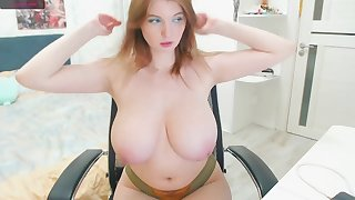 Huge Russian boobs - cute Caucasian girl just about big natural boobs heavens webcam