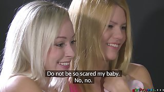 Crestfallen lesbian sexual intercourse between horny Sofie plus their way amateur team up