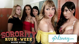 GIRLSWAY College Sorority Scissoring with Ivy And Judy