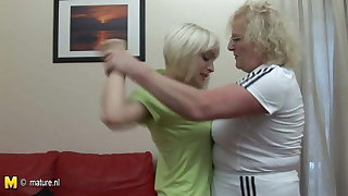 Hard lesbian lesson from her old coach