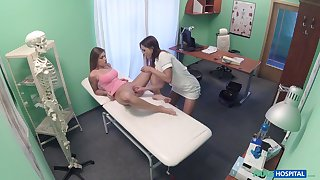 Pretty and horny Chloe Lovette gets her cunt bewitched by a poofter doctor