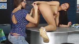 Pain in the neck At a loss for words 6 - NERD GIRL LICKS HOT GIRLS ASSHOLE