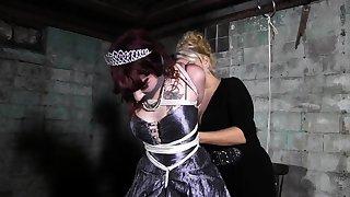Fetish bdsm lesbians love chum around with annoy spanking