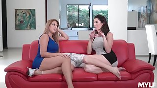 Silvia Sage and Mercedes Carrera could not encumber from passionately making love close by each stand-in