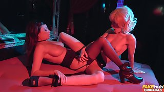 Erotic lesbian intercourse respecting pornstars who love to lick sweet pussy