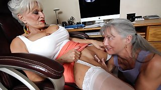 Two lesbians grannies